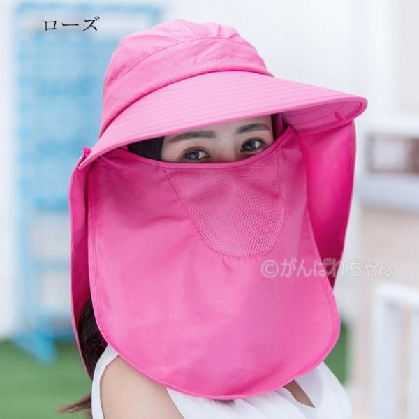 レディース つば広帽子 UVカットハット 紫外線対策 サンバイザー 取外し可 折畳み可 母の日 日焼け止め オシャレ 大人気 アウトドア 春夏秋 おしゃれ|rensei|13
