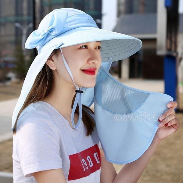 レディース つば広帽子 UVカットハット 紫外線対策 サンバイザー 取外し可 折畳み可 母の日 日焼け止め オシャレ 大人気 アウトドア 春夏秋 おしゃれ|rensei|10