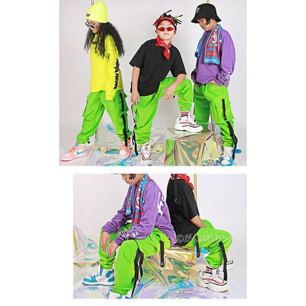 【ダンスパンツ】ボトムス パンツ ダンス衣装 キッズ ダンス衣装 パンツ HIPHOP ダンス 衣装 男の子 女の子 ヒップホップ JAZZ キッズ ダンス 衣装 練習着|rensei|02