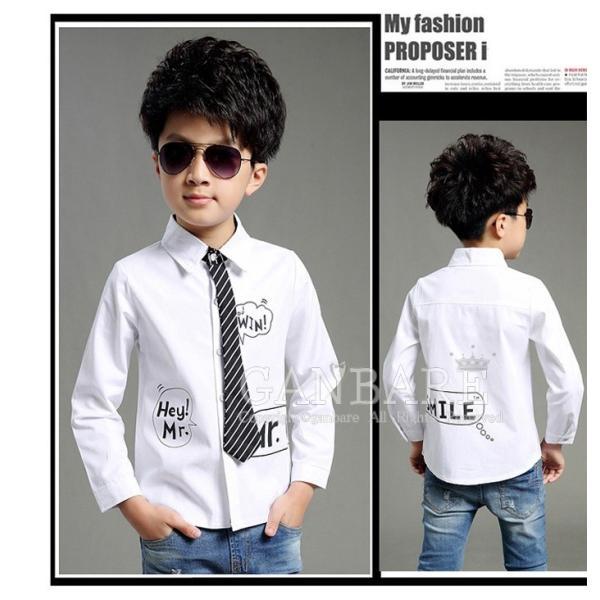 64669f4115689 ... 子供シャツ 白いシャツ ワイシャツ ネクタイセット キッズ 男の子 半袖 コットン フォーマル 演出衣装 ステージ 入園 ...