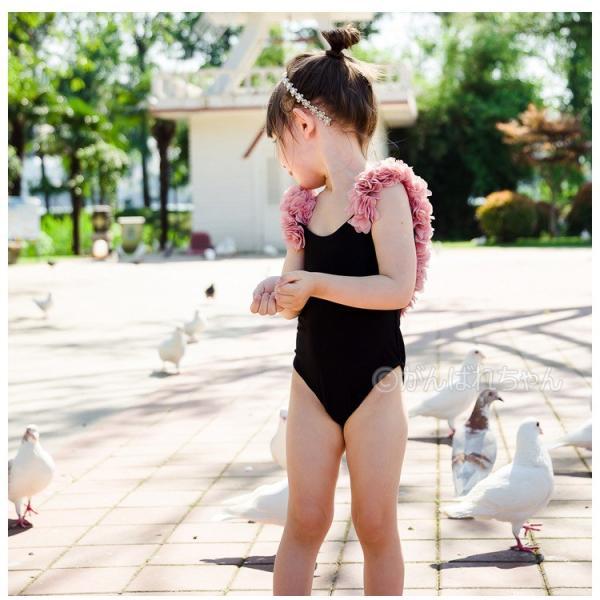 親子ペア 水着 体型カバー 親子お揃い 水着 子供 ワンピース 水着 レディース タンキニ  セクシー 可愛いみずぎ キッズ 水着 セパレート子供水着 韓国子供水着|rensei|05
