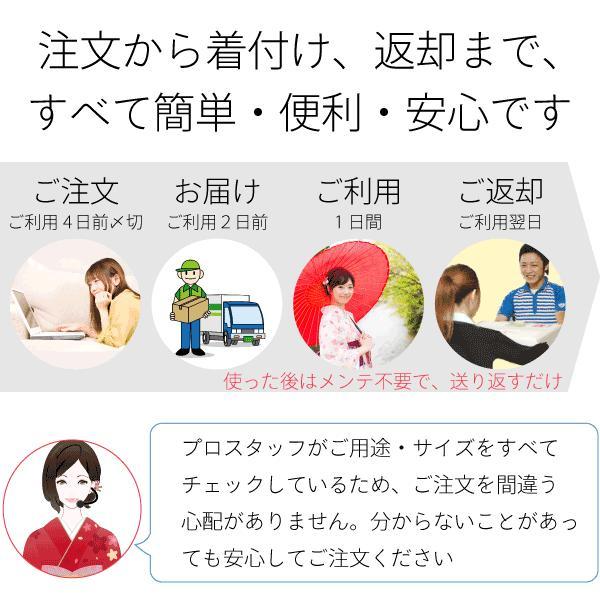 着物 レンタル Mサイズ 京袋帯セット 白・千鳥格子|rental-kimono|08
