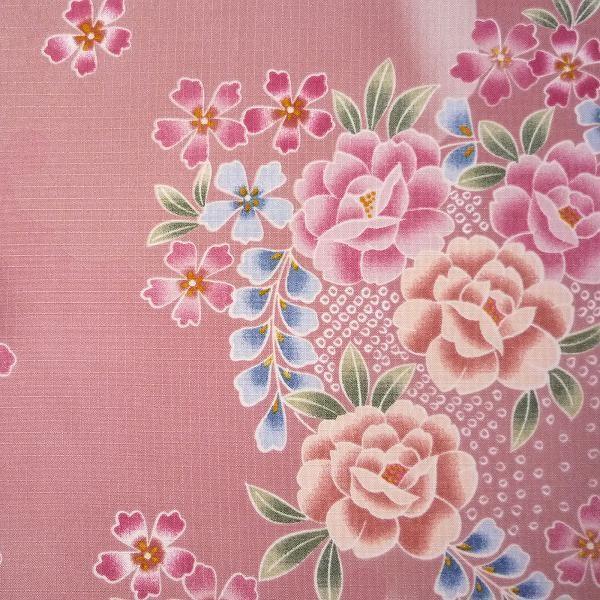 着物 レンタル 袋帯 セット Mサイズ レディース ピンク 椿 rental-kimono 04