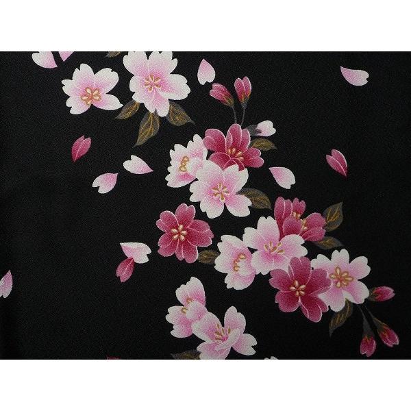 着物 レンタル セット Mサイズ レディース 黒・夜桜|rental-kimono|03