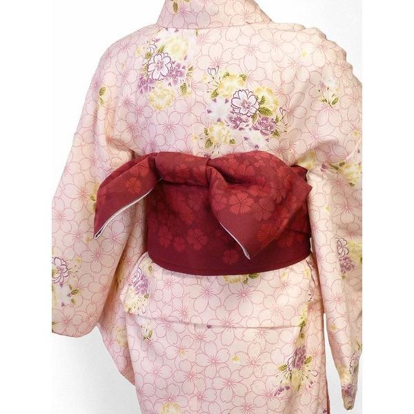 着物 レンタル セット Mサイズ レディース ピンク 桜|rental-kimono|02