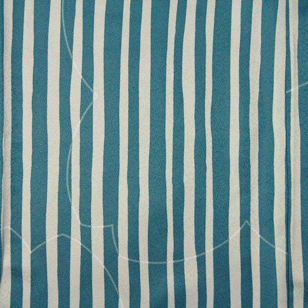 着物 レンタル Mサイズ 袋帯セット 緑・縦縞モダン ワンタッチ式|rental-kimono|03