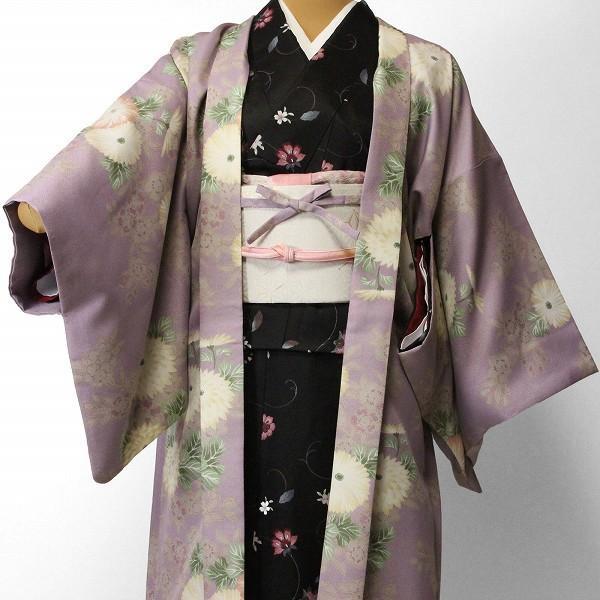 羽織 レンタル オプション レディース 紫 菊|rental-kimono