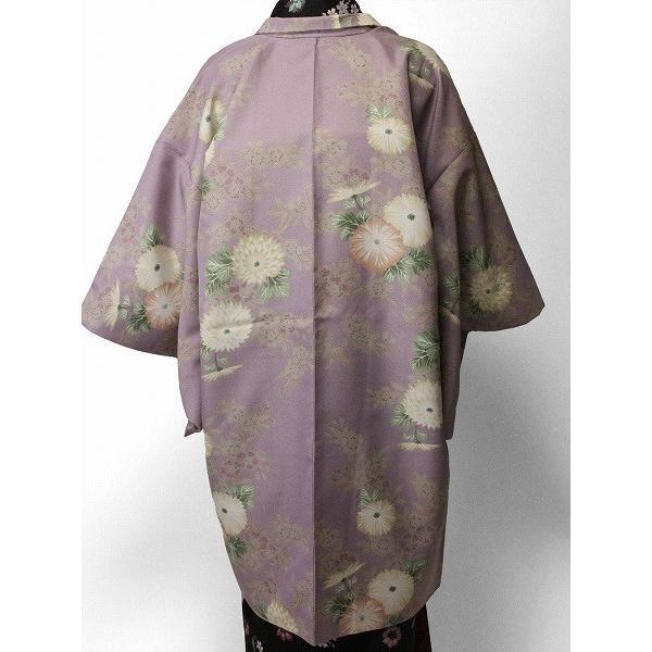 羽織 レンタル オプション レディース 紫 菊|rental-kimono|02