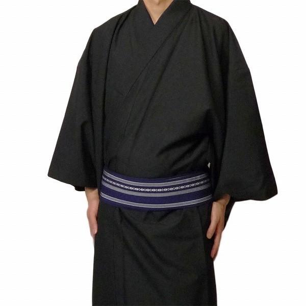 男性 着物+羽織 レンタル セット Mサイズ メンズ 黒/グレー rental-kimono 02