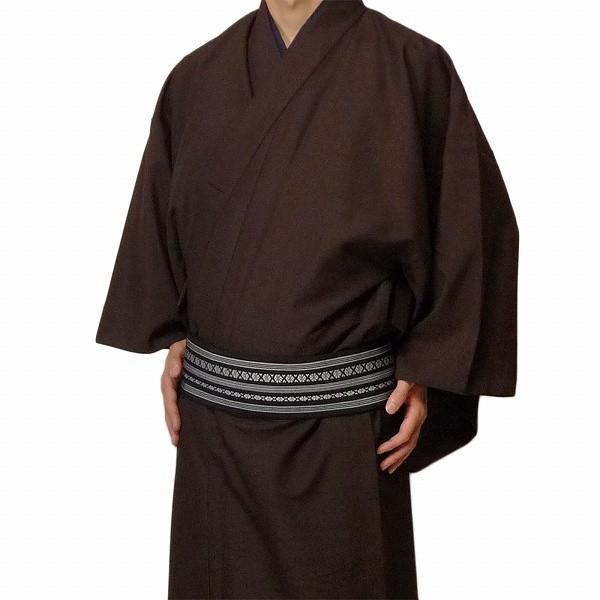 男性 着物+羽織 レンタル セット Mサイズ メンズ 茶色|rental-kimono|02