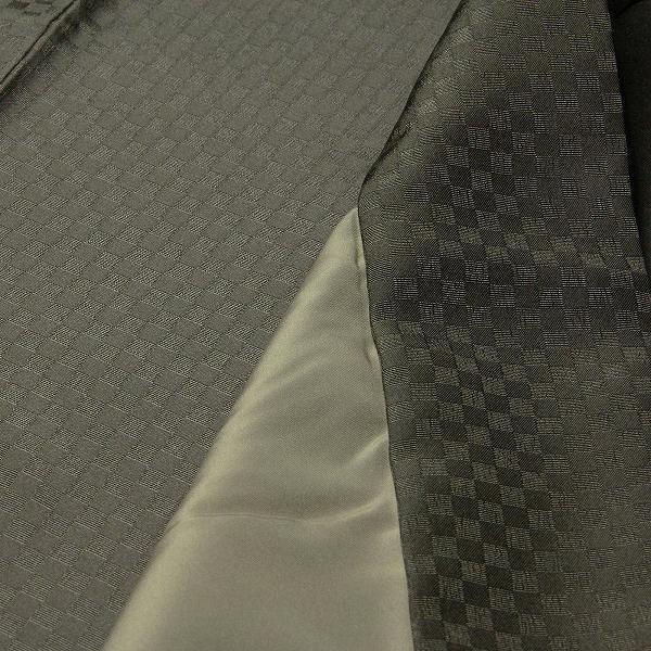 男性 着物・羽織 レンタル XLサイズ メンズ 緑利休鼠 御召風|rental-kimono|04