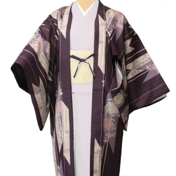 羽織 レンタル オプション レディース 紫矢絣|rental-kimono