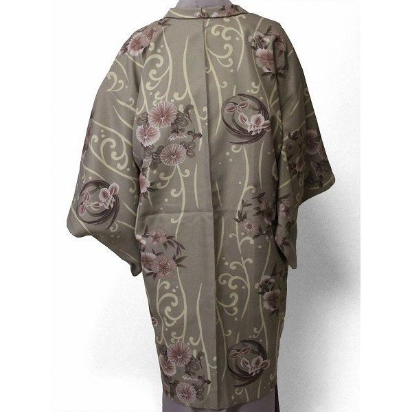 羽織 レンタル オプション レディース グレー縦流水 rental-kimono 02
