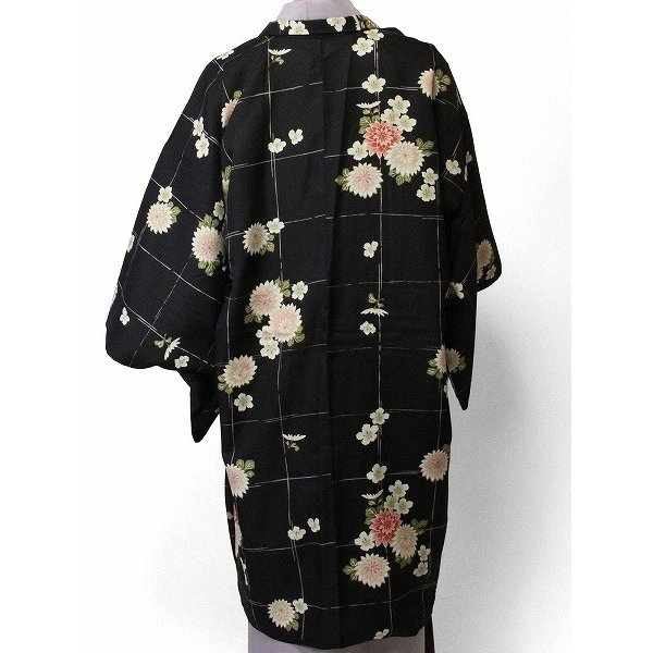 羽織 レンタル オプション レディース 黒 菊格子|rental-kimono|02