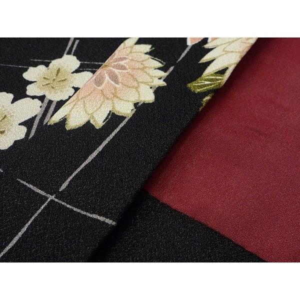 羽織 レンタル オプション レディース 黒 菊格子|rental-kimono|04
