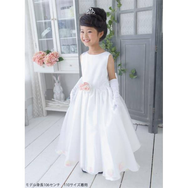 155a7717a9cf1 ... 子供ドレスレンタル 靴セット 女の子用フォーマルドレス 日本製 001-WH ホワイト コサージュ ...