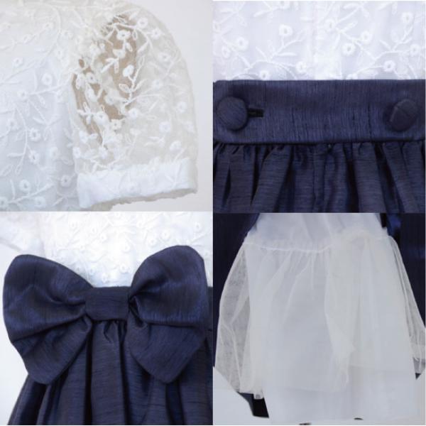 子供ドレスレンタル  靴セット 女の子用フォーマルドレス 日本製  021-KN ネイビー フォーマル 女の子 100 110 120 130サイズ キッズ 結婚式|rentaldress-kids|03