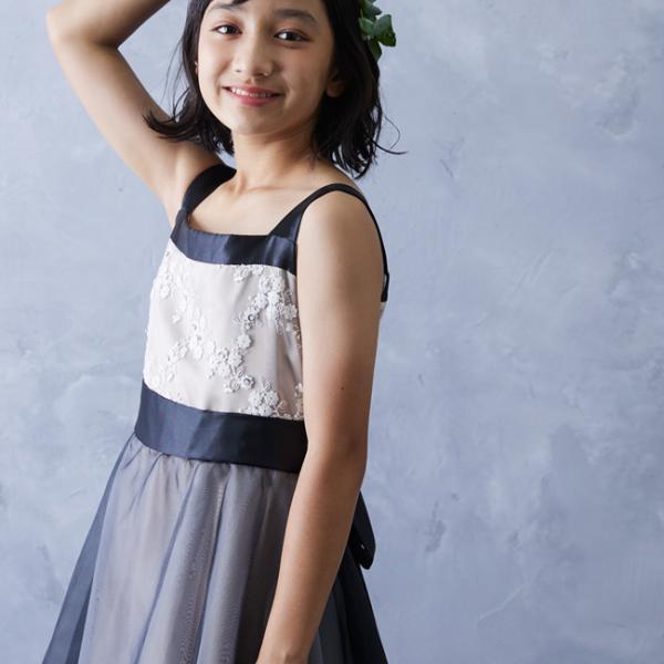 b694463e4277c ... 子供ドレスレンタル 靴セット ジュニア フォーマルドレス 日本製 pgl016 シャンパンベージュ 女児 140 150 ...