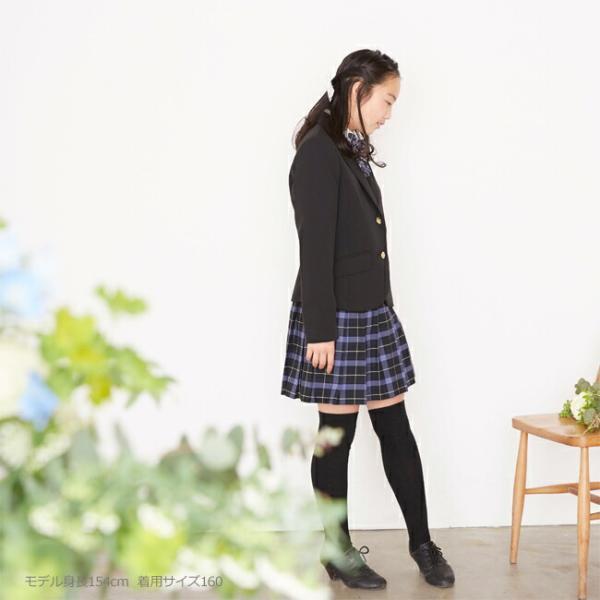 62232cf7b4be9 ... フォーマル子供服 靴セット 女の子 ジュニア フォーマルスーツ セット rogl001 黒ブレザーとチェックスカート ...