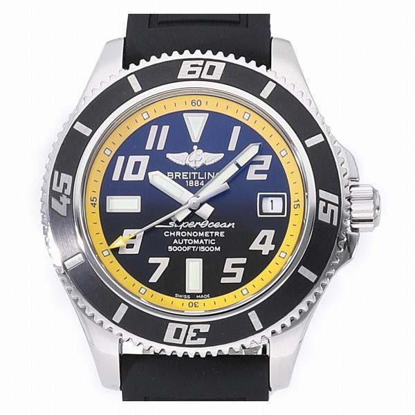 quality design 291cd 4f453 ブライトリング スーパーオーシャン42 アビスイエロー A187B32RRC (A17364) 中古 メンズ(男性用) 送料無料 腕時計