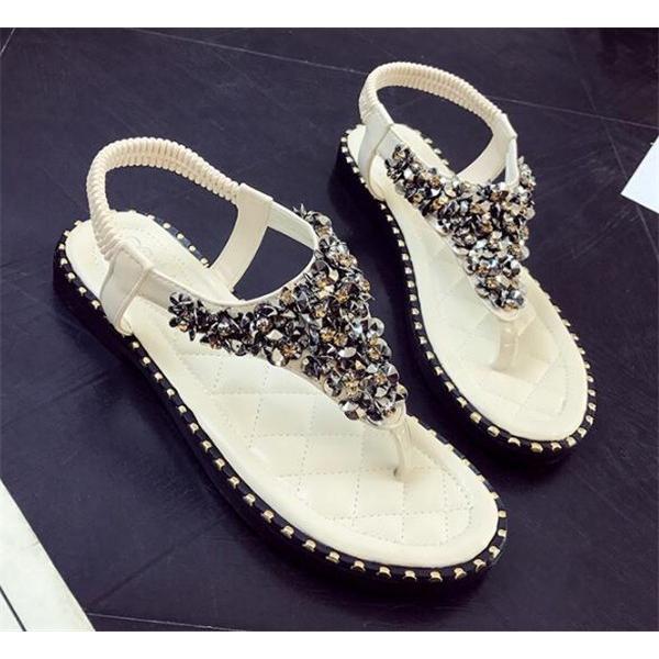 サンダル レディース ローヒール シューズ 夏 ぺたんこ  靴 ミュール サマー 美脚 おしゃれ トングサンダル 歩きやすい 20代 30代 40代