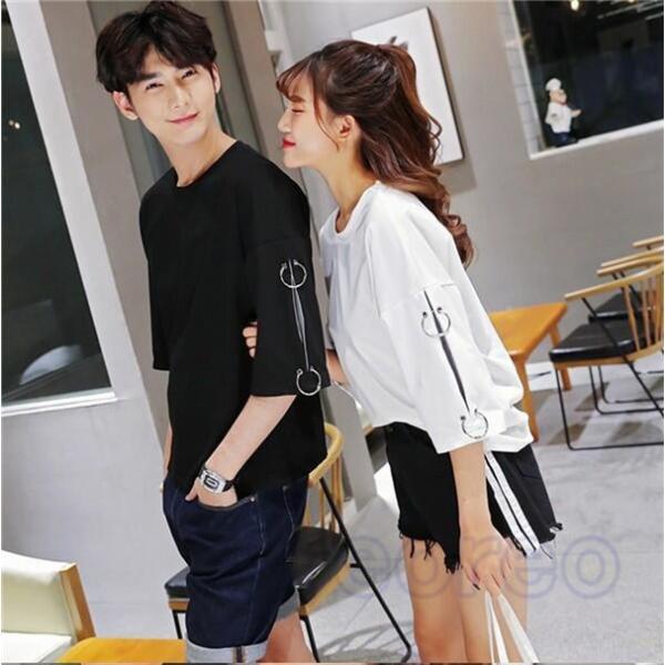 ab2c53279dd トップス Tシャツ ペアルック 半袖 カップル レディース メンズ カジュアル 夏 サマー プレゼント 旅行 韓国 ファッション| ...