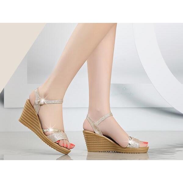 サンダル レディース ウェッジソール ストラップ シューズ 夏 靴 ミュール 女性 厚底 美脚 おしゃれ 通勤 セクシー 歩きやすい 20代 30代 40代