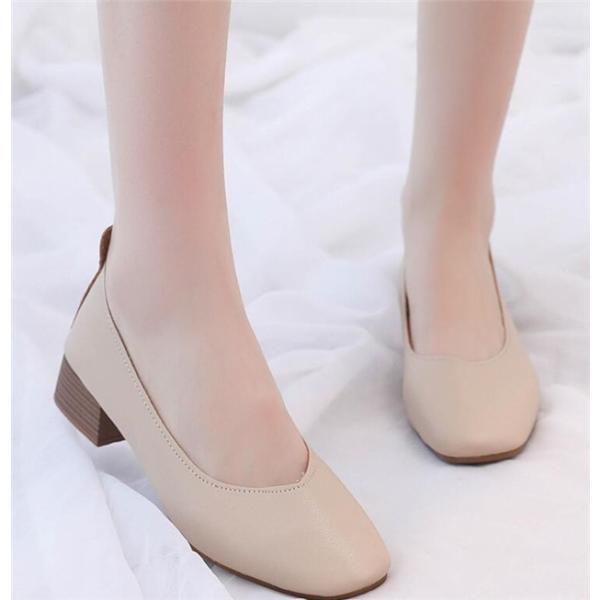 パンプス レディース ハイヒール 春 秋 太ヒール シューズ 歩きやすい 通勤 履きやすい シンプル 婦人靴 2019