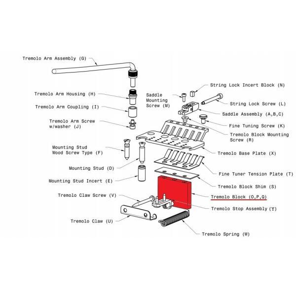 FLOYD ROSE ORIGINAL FAT BRASS TREMOLO BLOCK 37MM /【Buyee