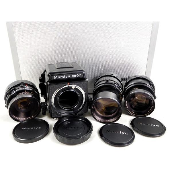 【中古】 中古 Mamiya マミヤ RB67 ProS F4.5 65mm 250mm F3.8 127mm 中判カメラ レンズ3点付 付属品多数  K2567277