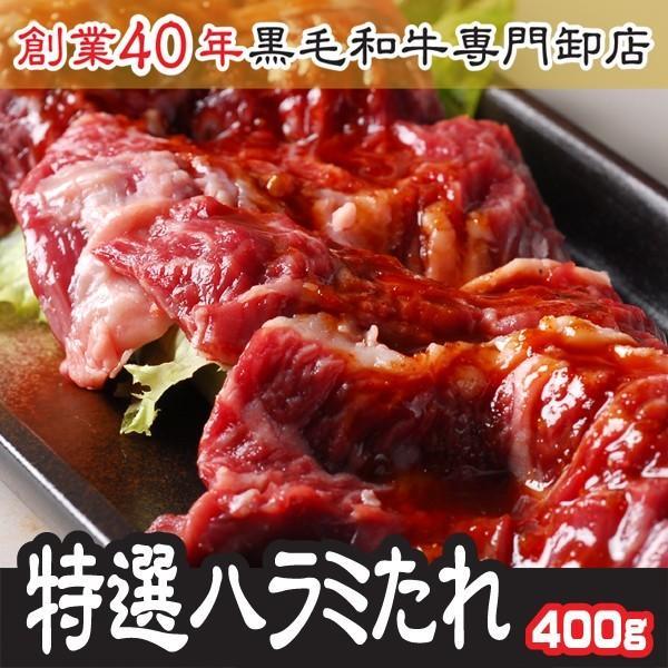 お中元 2021 ギフト 肉 味付特選 上ハラミ サガリ 400g  200g×2袋  注文時にカットし味付け
