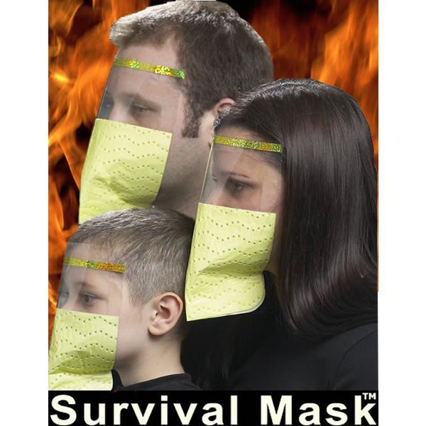 サバイバルマスク (成人用1枚) アイシールド一体型 (メール便可5)