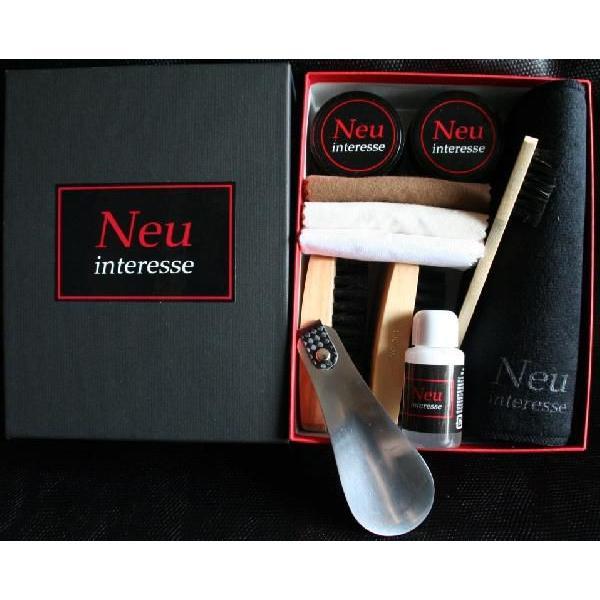 靴 手入れ Neu Interesse(ノイインテレッセ) Shoe Care Set 「GT」(ジーティー)靴磨きセット 父の日 ギフト|resources-shoecare|02
