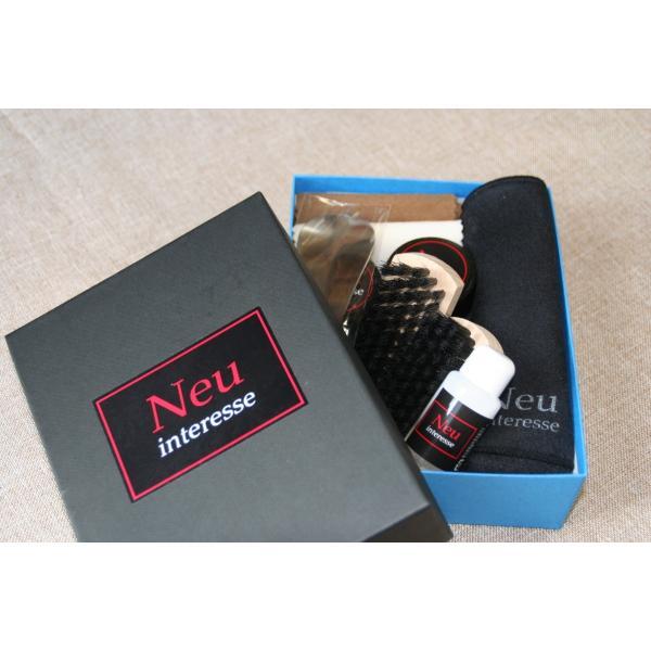 靴 手入れ Neu Interesse(ノイインテレッセ) Shoe Care Set 「GT」(ジーティー)靴磨きセット 父の日 ギフト|resources-shoecare|03