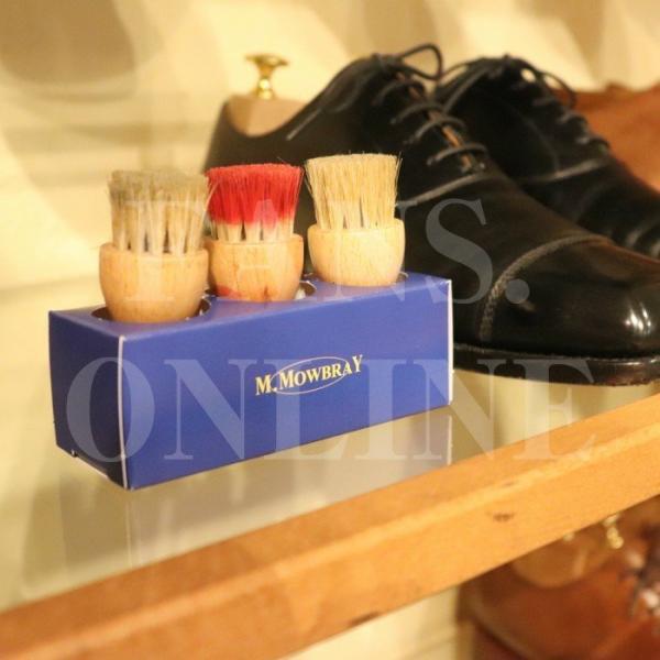 革靴 手入れ ペネトレィトブラシ3個セット 組み立て式スタンド付き 靴磨き クリーム塗布用ブラシ|resources-shoecare|03