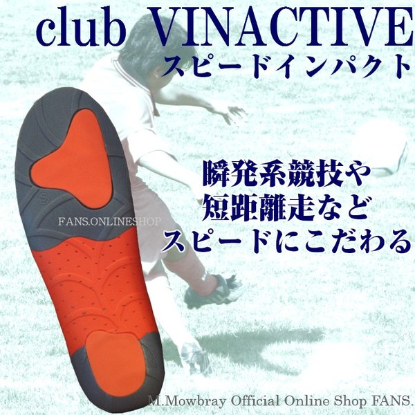 中敷き インソール club VINACTIVE スピードインパクト 訳あり SALE|resources-shoecare