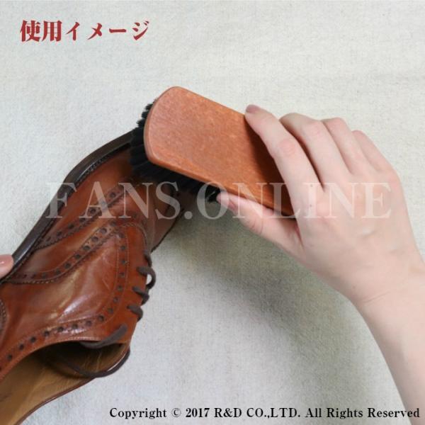 革靴 手入れ R&D プロ・ホースブラシ 靴磨き ホコリ落とし 鞄お手入れ ドイツ製 馬毛|resources-shoecare|02