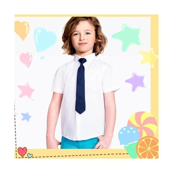 bbf07a1663141 ... 送料無料 子供シャツ 白いシャツ ワイシャツ ネクタイセット キッズ 男の子 半袖 コットン フォーマル 演出衣装 ...