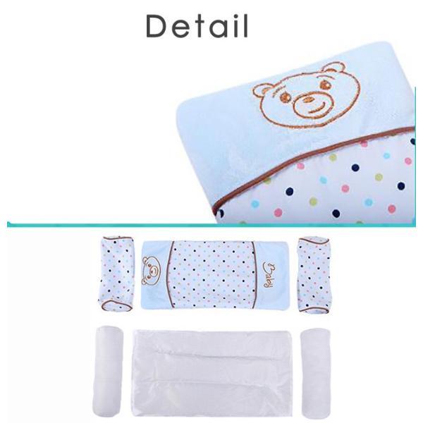 ベビー枕 新生児 赤ちゃん 頭の形が良くなる 向き癖防止 寝返り防止 枕カバー洗える 多機能 ベビーピロー かわいい 出産祝い ギフト|resty|07