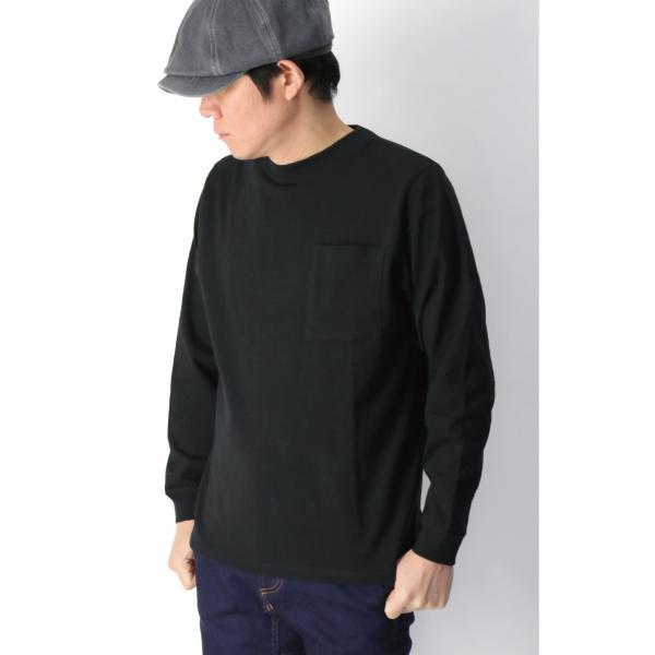 (グッドウエアー) Goodwear ロングスリーブ クルーネック ポケット Tシャツ ヘビーウエイト USAコットン カットソー メンズ レディース retom 02