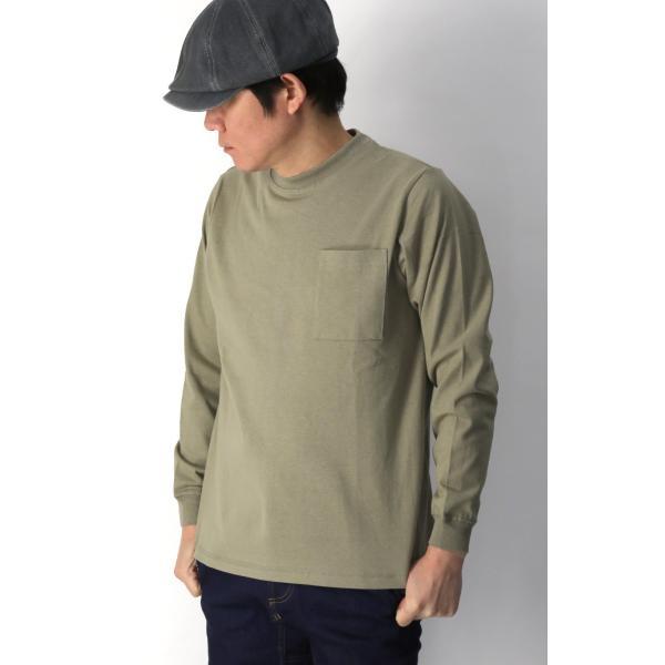 (グッドウエアー) Goodwear ロングスリーブ クルーネック ポケット Tシャツ ヘビーウエイト USAコットン カットソー メンズ レディース retom 11