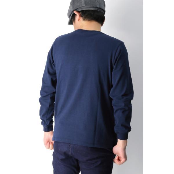 (グッドウエアー) Goodwear ロングスリーブ クルーネック ポケット Tシャツ ヘビーウエイト USAコットン カットソー メンズ レディース retom 13