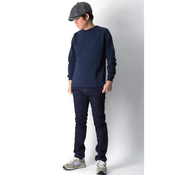 (グッドウエアー) Goodwear ロングスリーブ クルーネック ポケット Tシャツ ヘビーウエイト USAコットン カットソー メンズ レディース retom 14