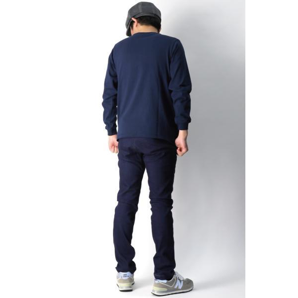 (グッドウエアー) Goodwear ロングスリーブ クルーネック ポケット Tシャツ ヘビーウエイト USAコットン カットソー メンズ レディース retom 15