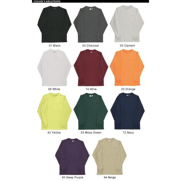 (グッドウエアー) Goodwear ロングスリーブ クルーネック ポケット Tシャツ ヘビーウエイト USAコットン カットソー メンズ レディース retom 16