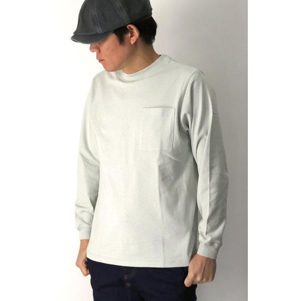 (グッドウエアー) Goodwear ロングスリーブ クルーネック ポケット Tシャツ ヘビーウエイト USAコットン カットソー メンズ レディース retom 04