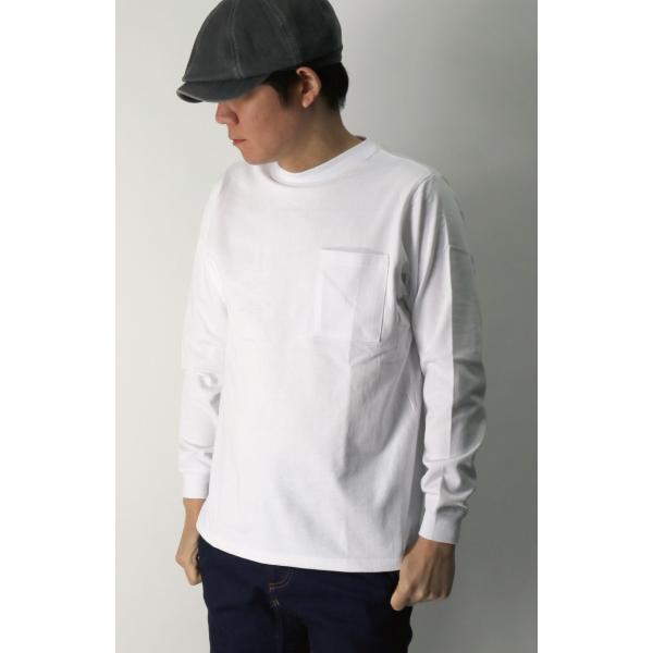 (グッドウエアー) Goodwear ロングスリーブ クルーネック ポケット Tシャツ ヘビーウエイト USAコットン カットソー メンズ レディース retom 05