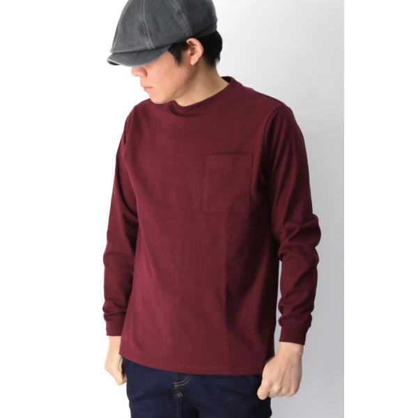 (グッドウエアー) Goodwear ロングスリーブ クルーネック ポケット Tシャツ ヘビーウエイト USAコットン カットソー メンズ レディース retom 06