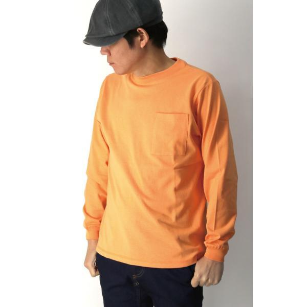 (グッドウエアー) Goodwear ロングスリーブ クルーネック ポケット Tシャツ ヘビーウエイト USAコットン カットソー メンズ レディース retom 07