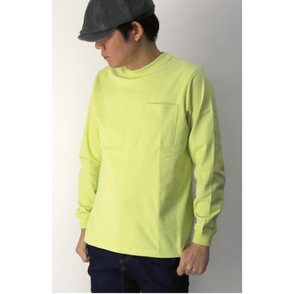 (グッドウエアー) Goodwear ロングスリーブ クルーネック ポケット Tシャツ ヘビーウエイト USAコットン カットソー メンズ レディース retom 08